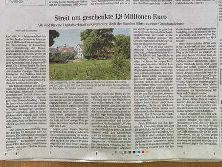 Zukunftslabor entsteht in Ravensburg