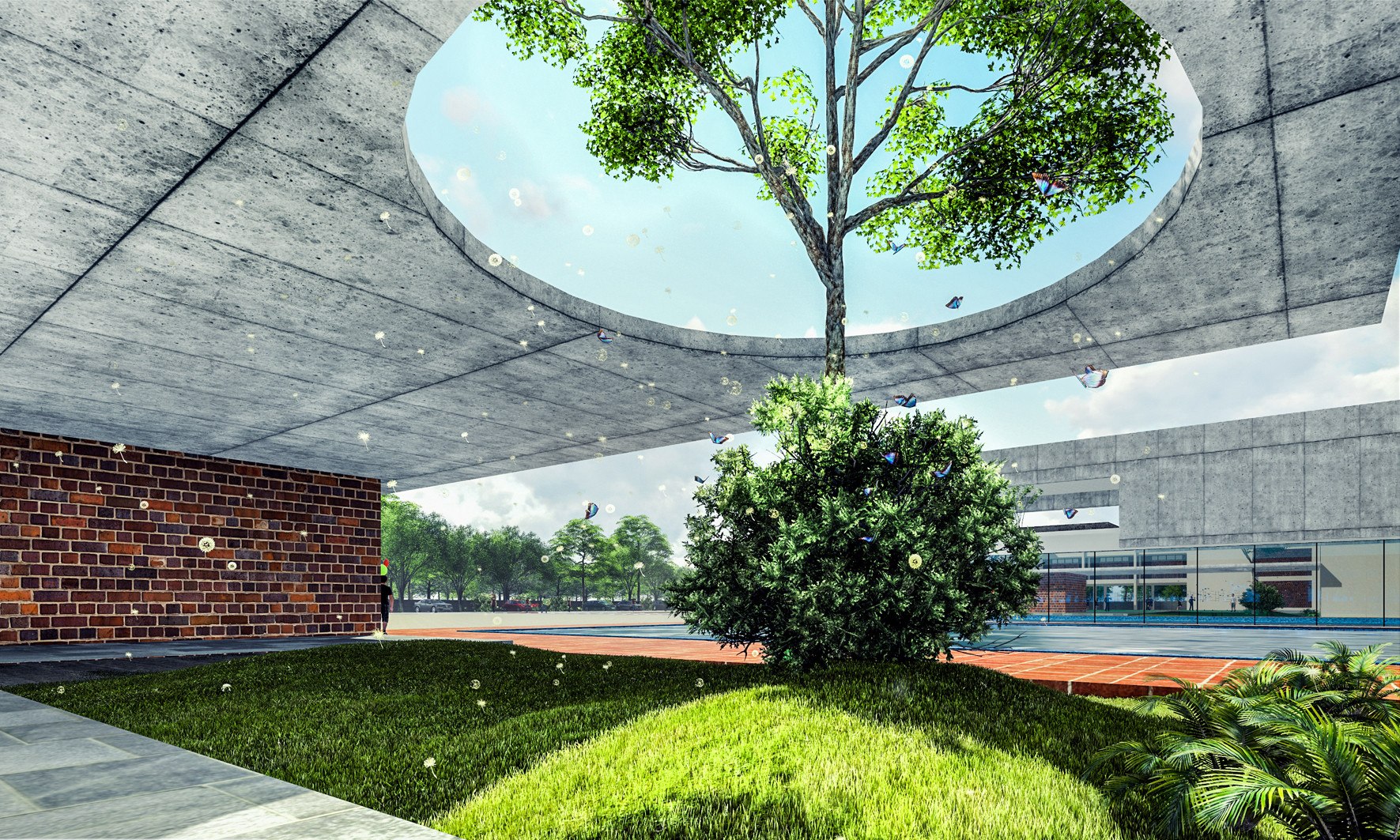 meditation zone CBSE International School by top school architect kolkata