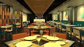 Arsalan Restaurant Interior, Circus Avenue