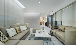 Living Room Interior at Promont, Bengaluru