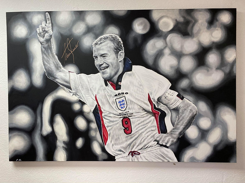 Win a signed Alan Shearer 'One in the World' Oil Painting