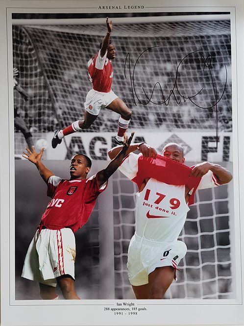Ian Wright Signed Montage