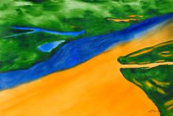 Encontro entre o Rio Negro e o Rio Solimões