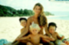 John John with is family in North Shore, Hawaii