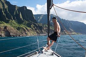 John John sailing in Hawaii