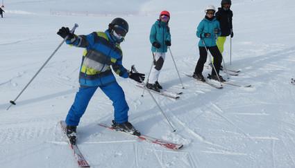 uitleven op de ski's