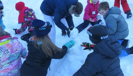 ravotten in de sneeuw