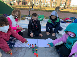 Learning Pod Outdoor Math Lesson