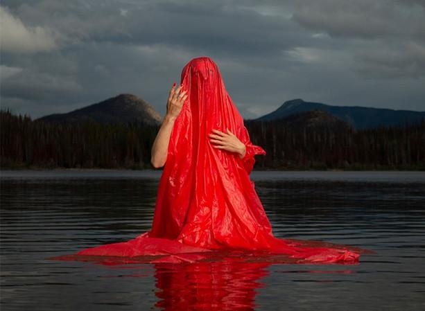 Red at Tesla Lake - Social Sharing Image