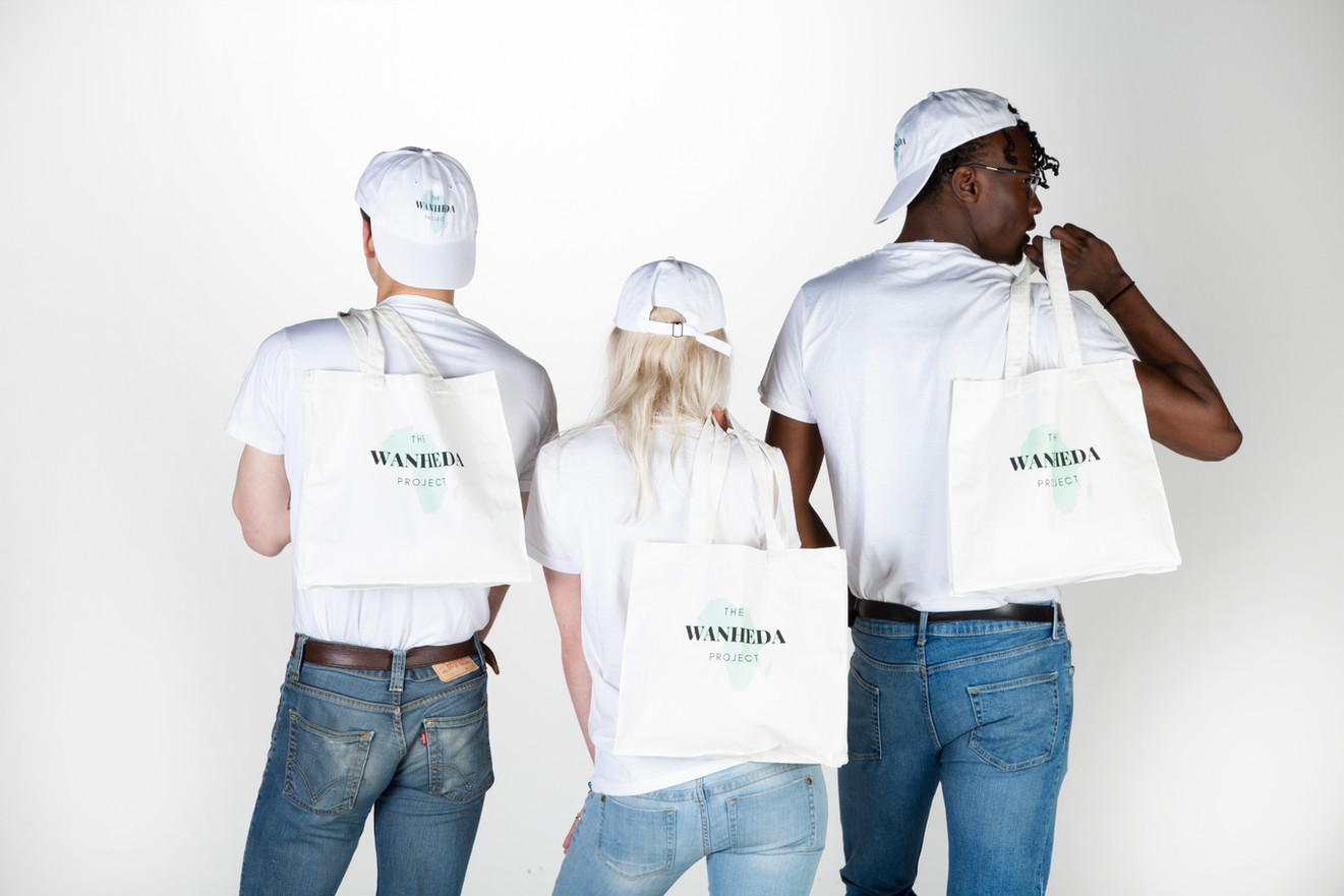 Wanheda canvas bags, hats and t's