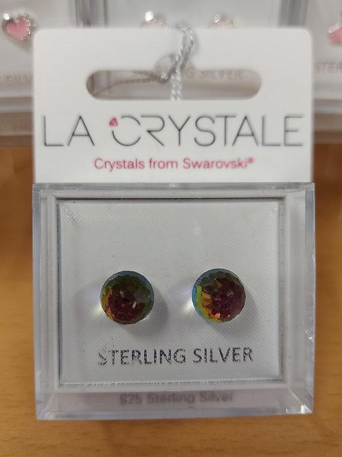 Swarovski crystal AB ball. 925 silver
