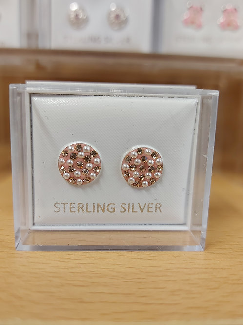 Round dotty earrings. 925 silver