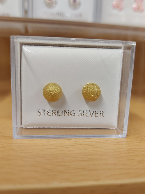 Gold ball. 925 silver