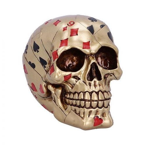 Dead Mans Hand skull (gold)