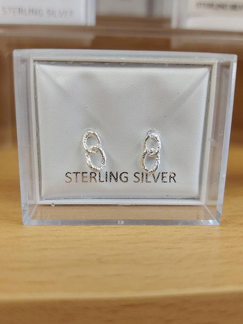 Classic chain link earrings. 925 silver.
