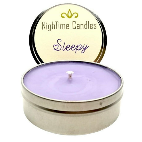 Fragranced candle tins by NightTime