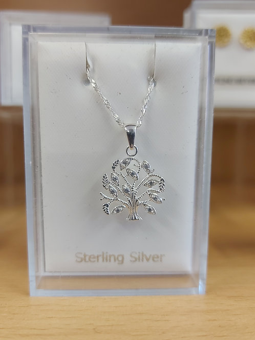 Tree of Life pendant and chain. 925 silver.
