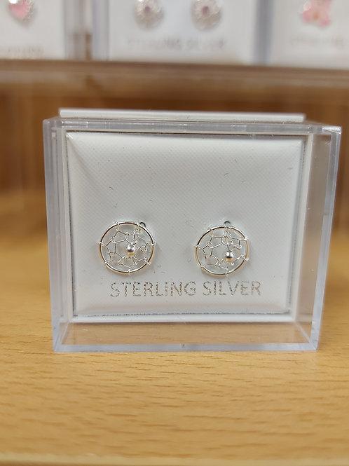 Dream Catcher earrings. 925 silver