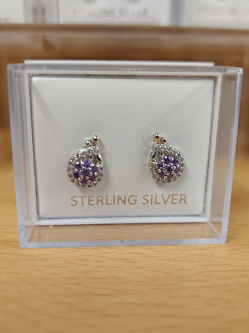 Lilac cluster earrings. 925 silver