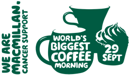 Macmillan Coffee Morning Friday 29th September 10-12pm Heartshead Resturant