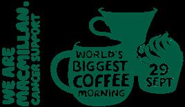 Macmillan Coffee Morning Friday 29th September 10-12pm Heartshead Resturant