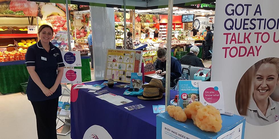 Cancer Awareness Roadshow at Ashton Market Hall