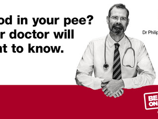 Blood in your pee ? Be Clear on Cancer