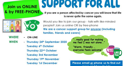Virtual support group - Living with cancer & beyond