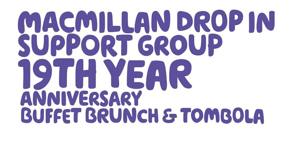 Macmillan Drop in 19th Anniversary Buffet Brunch