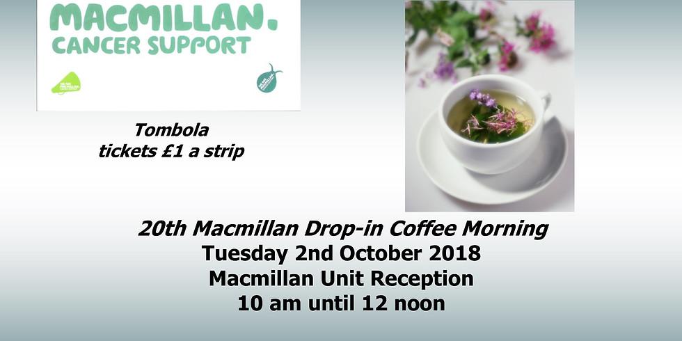 Macmillan Coffee Morning, Macmillan Drop In Support Group