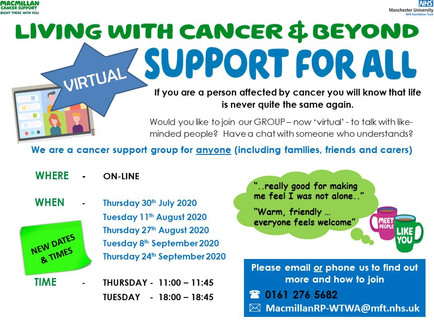 Virtual Support Group - Support for all