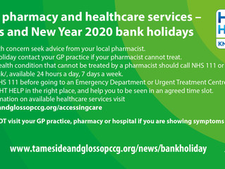 Healthcare services over Christmas and New Year 2020