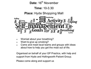 Love your Lungs - 16th November - Hyde Shopping Mall