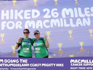 Anita`s Mighty  Hike for Macmillan Cancer Support