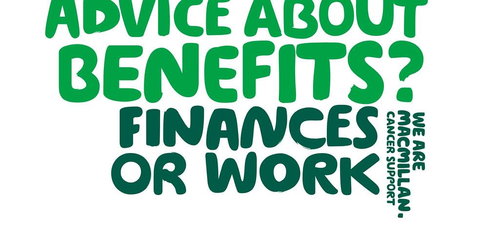 Macmillan Welfare Rights Benefit advice clinic