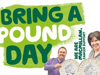 Macmillan 'Bring A Pound Day' on May 24