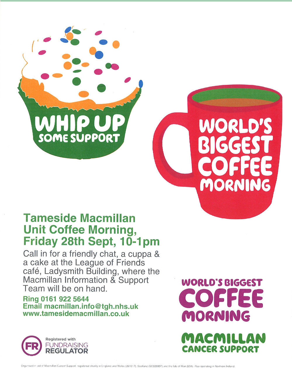 Macmillan Unit Coffee Morning