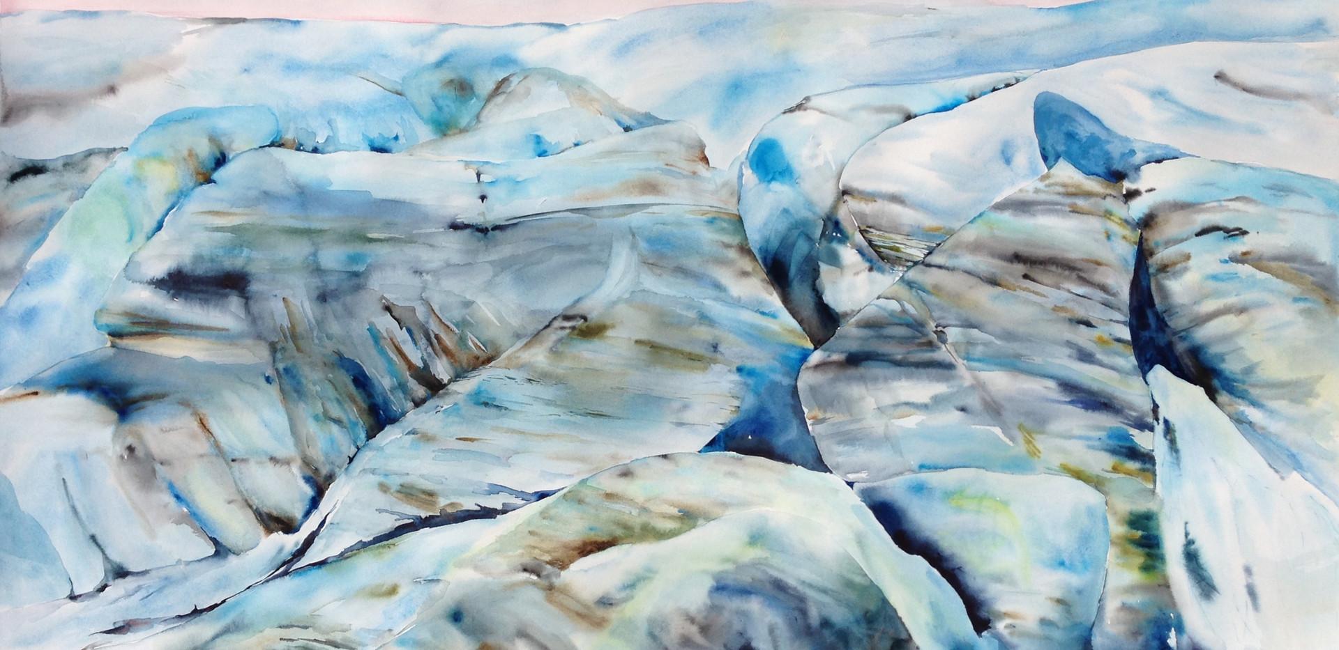 Iceland Glacier with Stripes