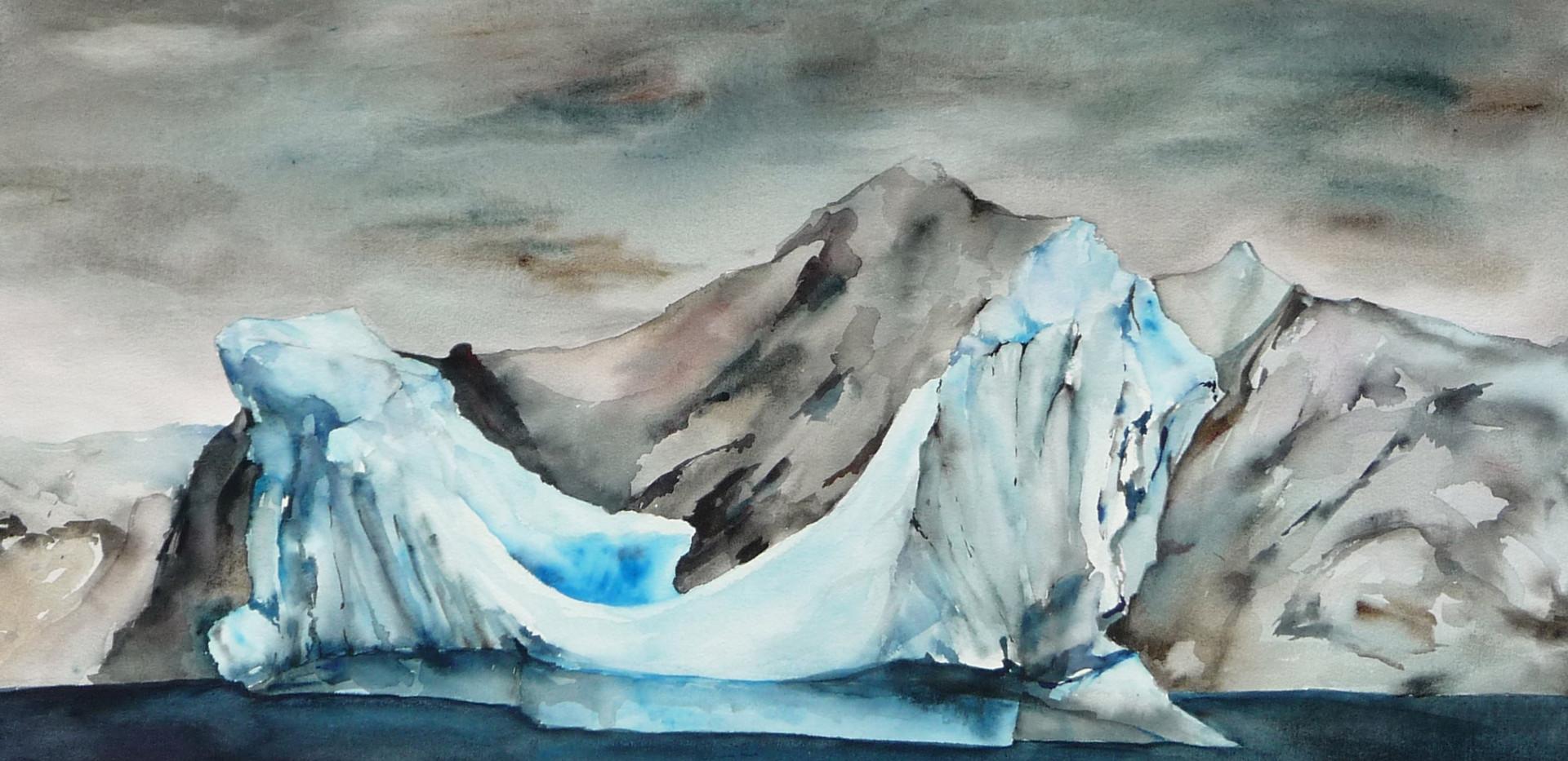 Iceberg From our Zodiac, 3 Antarctica