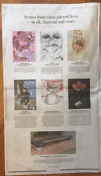 Second page from the Washington Post with my piece featured in the middle.