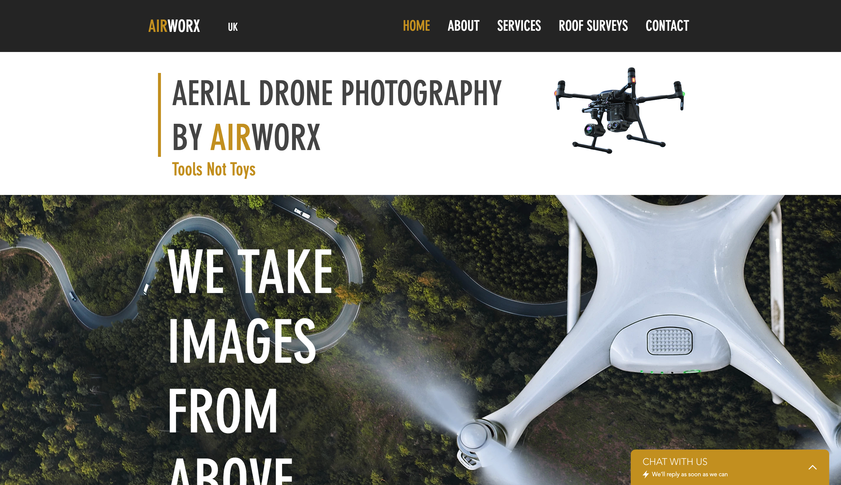 Drone Photography Website On wix