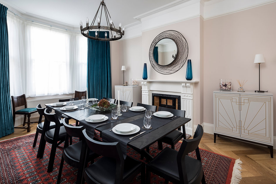 High End refurbishment for a rental home, with designer furniture