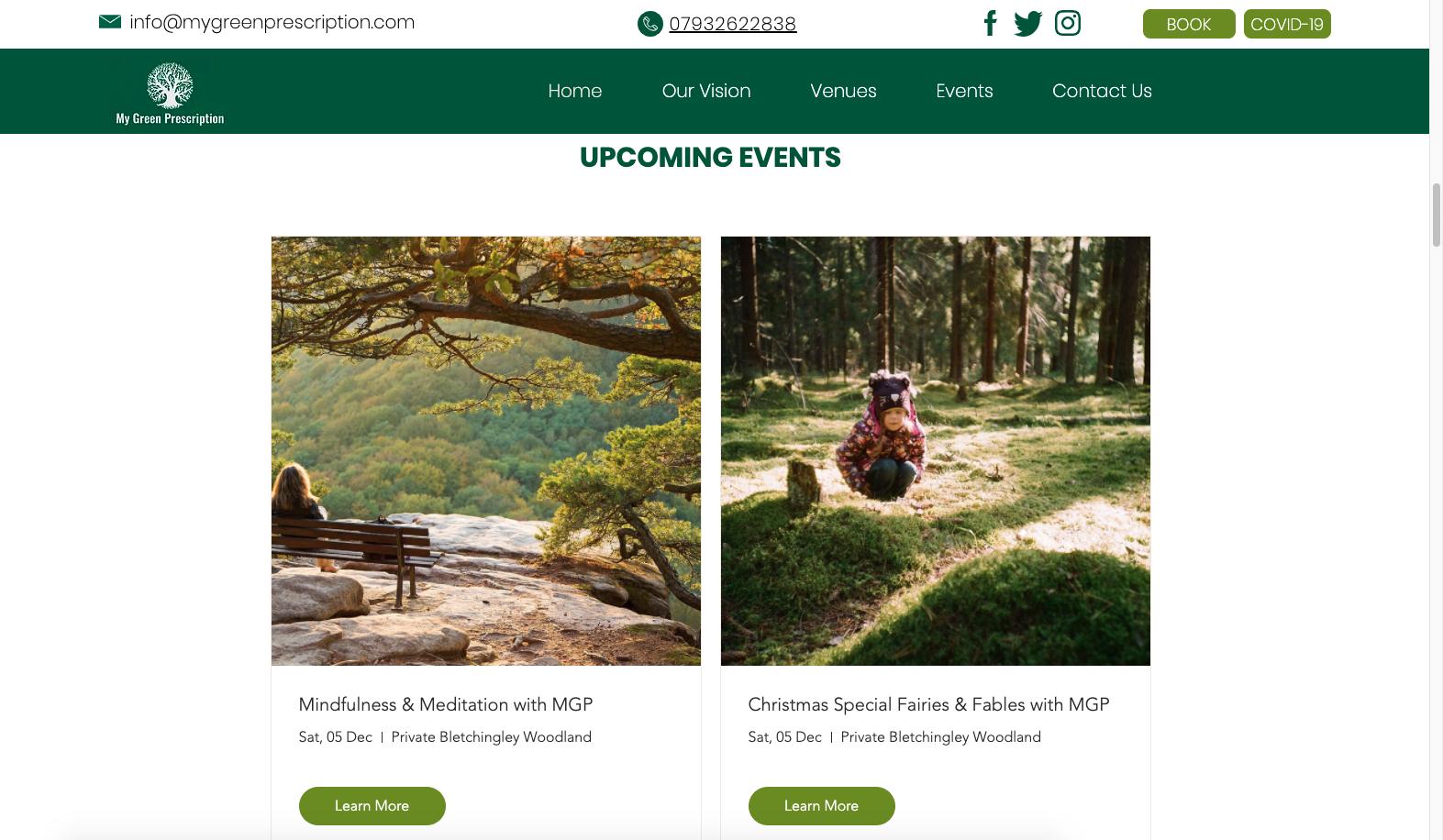 Wix Events Website