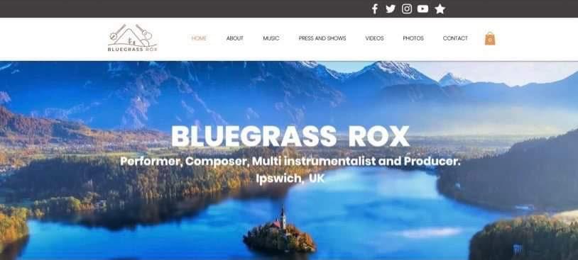 Wix Music Website