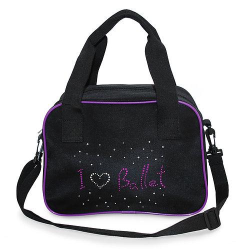 Roch Valley Dance ballet bag (rvballet) with shoulder strap.