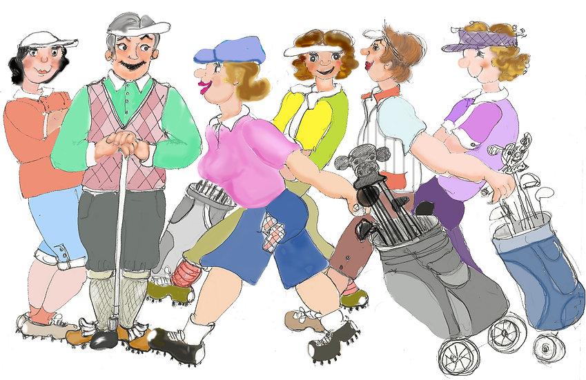 Busy golfers