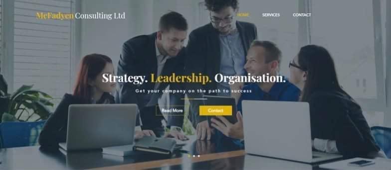 Consultancy Website On Wix