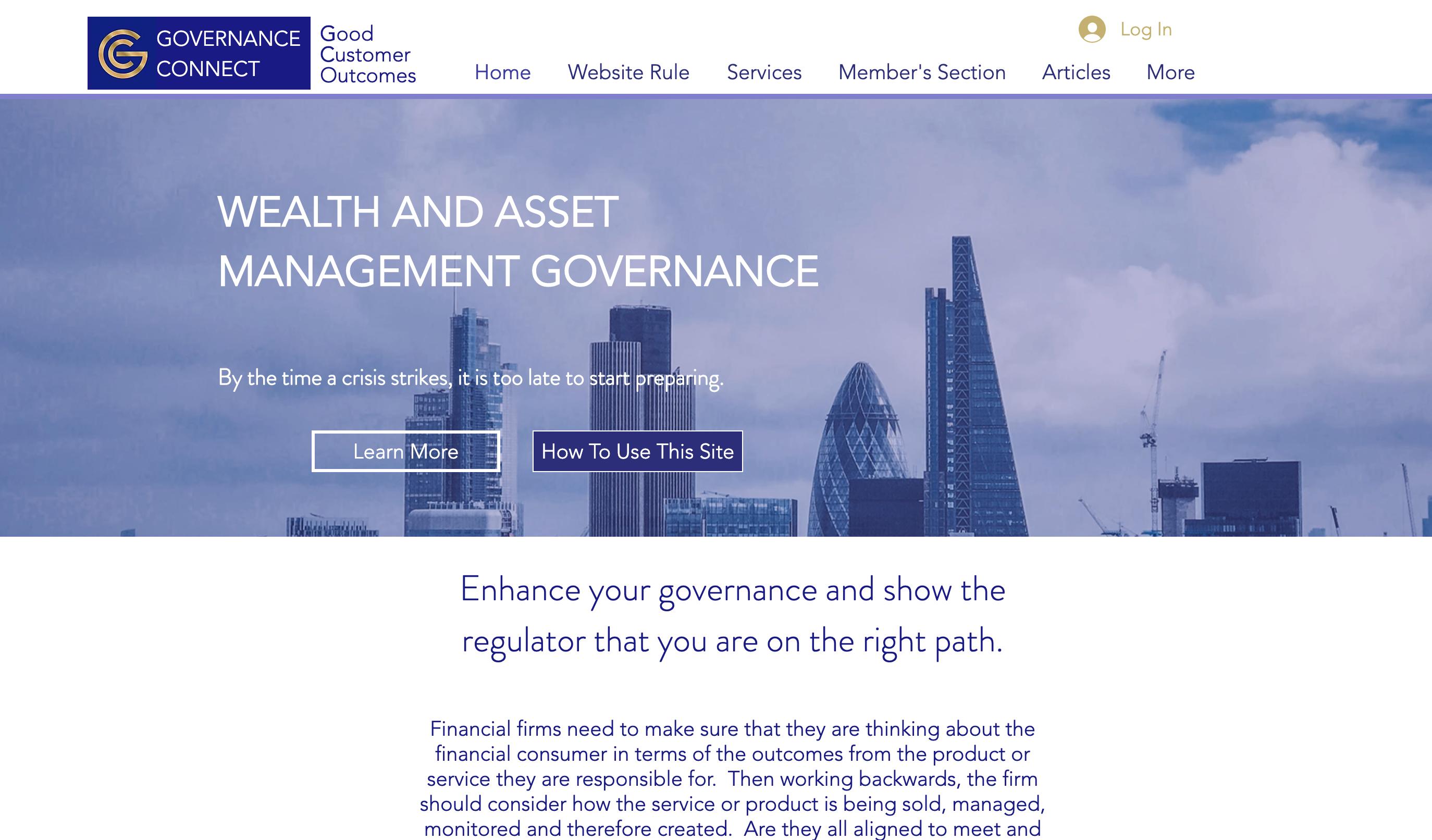 Wix Consultancy Website