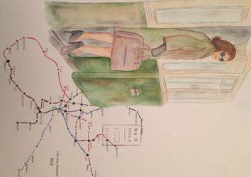Mapa metro de Madrid 1972