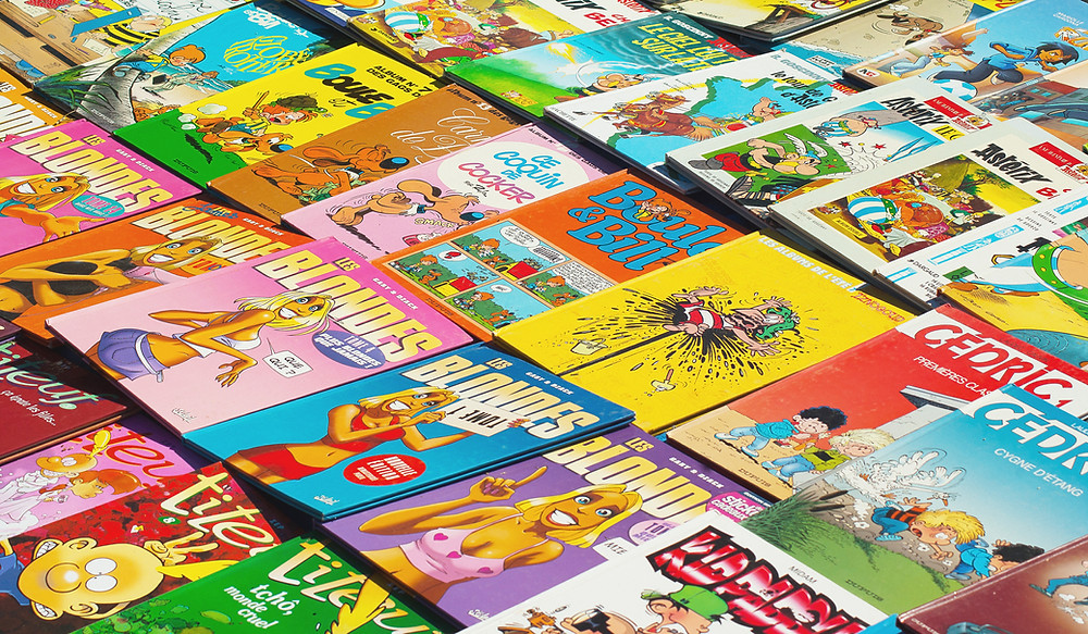 Kids love French comic books
